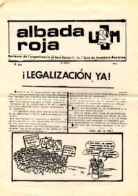 ALBADA ROJA, , ORT, UJM, MEMORIA HISTÓRICA