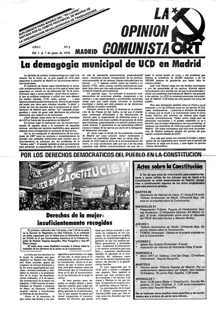La Opinion   Comunista ORT UJM Juventudes Maoistas Memoria Histórica
