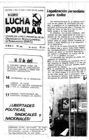 Lucha Popular, ORT, UJM, MEMORIA HISTÓRICA