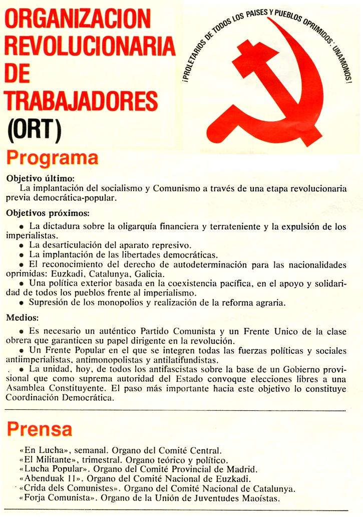 ORT-UJM, MEMORIA HISTORICA , ELECCIONES, DEMOCRACIA