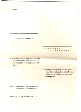 En lucha, ORT, UJM, MEMORIA HISTÓRICA, ANTEPROYECTO ESTATUTO DE EUSKADI