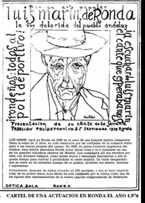 Luis Marín, nacido en Ronda en 1.948, tenía una voz tan potente y clara